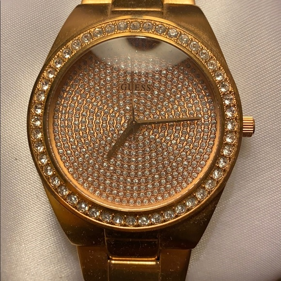 Rose gold coloured Guess watch